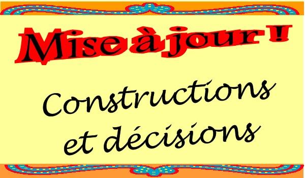 Travaux et décisions
